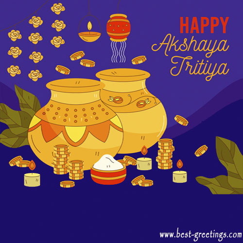 Build Your Own Akshaya Tritiya Wishes Cards Online