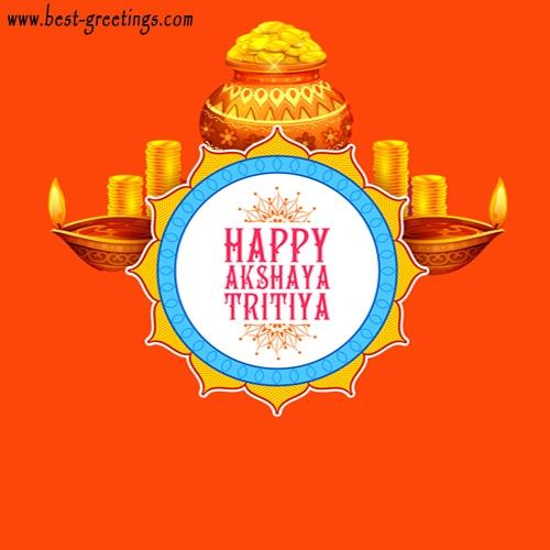 Create Custom Akshaya Tritiya Wishes Cards