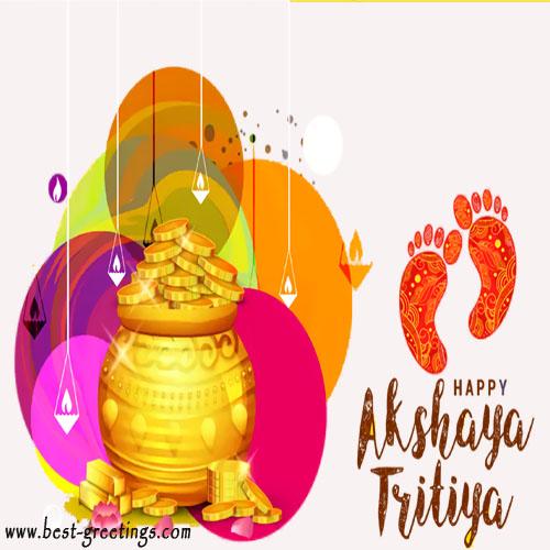 Write Name on Akshaya Tritiya Wishes Images