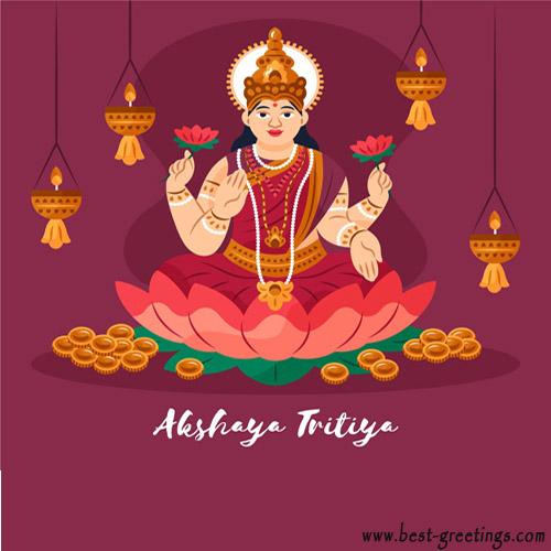 Create Akshaya Tritiya Greeting for Company
