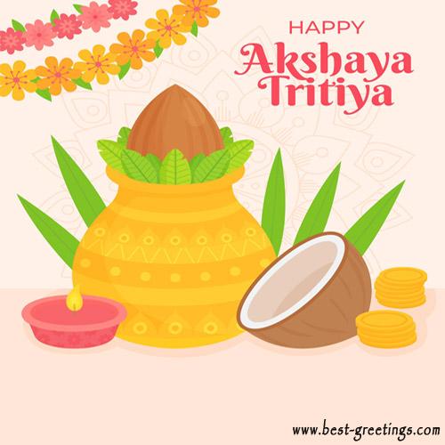 Greetings Card for Akshaya Tritiya