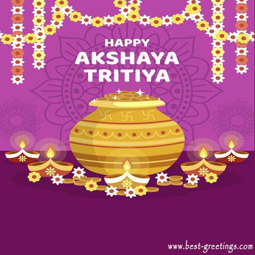 Online Editable Akshaya Tritiya Wishes Card