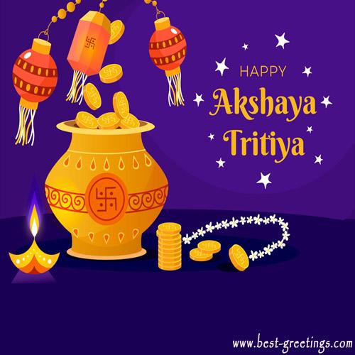 Add Name On Happy Akshaya Tritiya Image