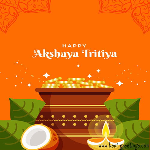 Free Make Happy Akshaya Tritiya Image with Name