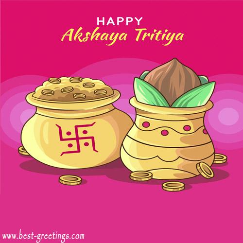 Customized Happy Akshaya Tritiya Wishes Image