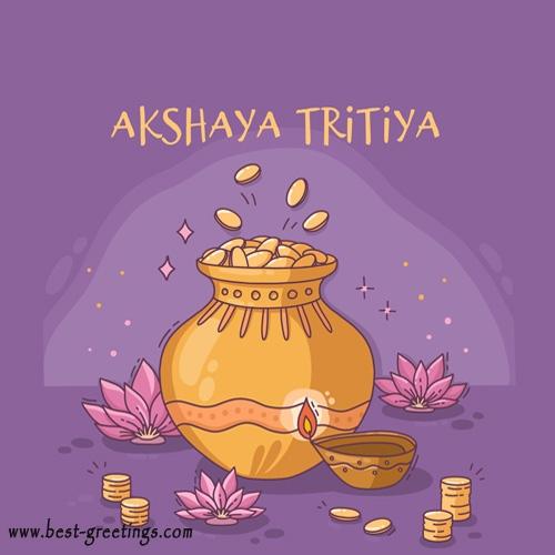 Write your name on Akshaya Tritiya Card