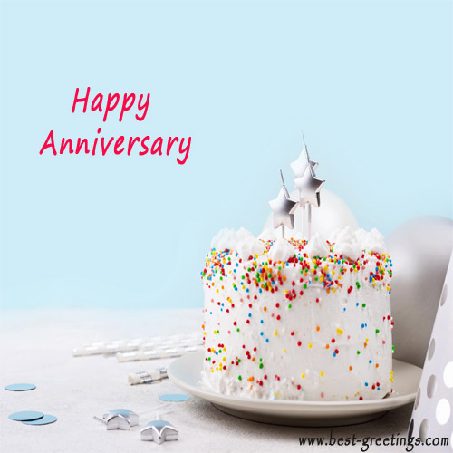 Customized Anniversary Wishes Card