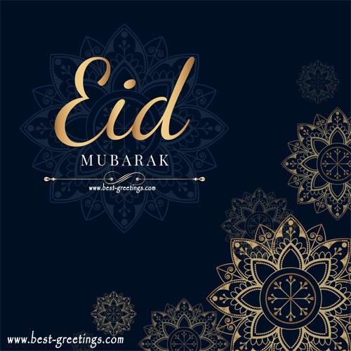 Happy Eid Mubarak Card With Name Editor