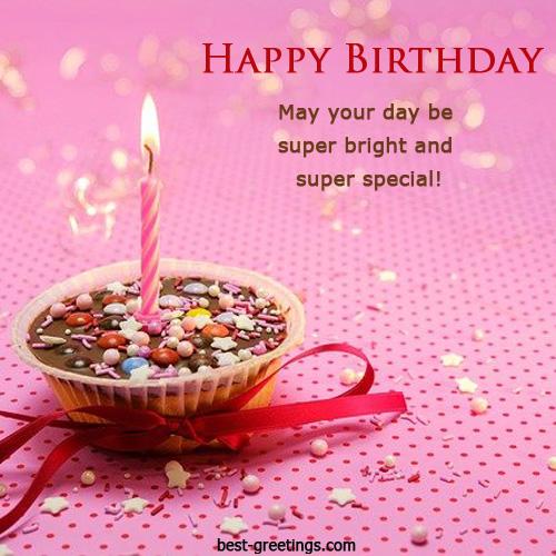 Cupcake Birthday Wishes Greeting Card
