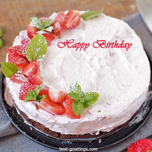 Write Your Name On Birthday Cake Image For WhatsApp Send