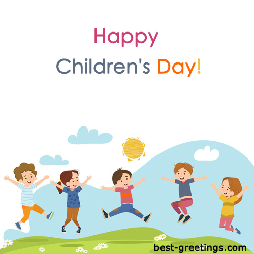 Free Making Children's Day Wishes Cards Customize