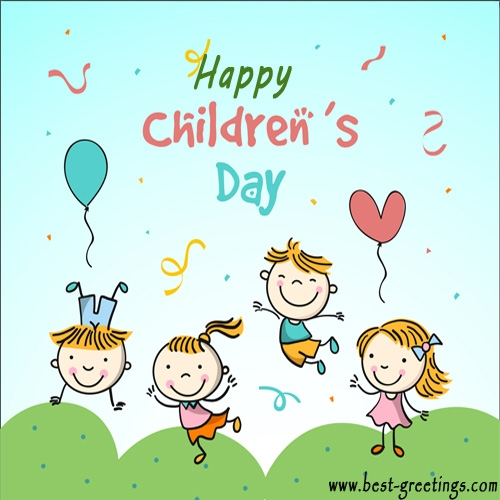 Build Your Own Happy Children's Day Wishes Cards Online