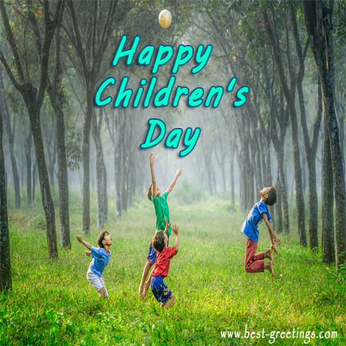 Free Make Happy Children's Day Image with Name