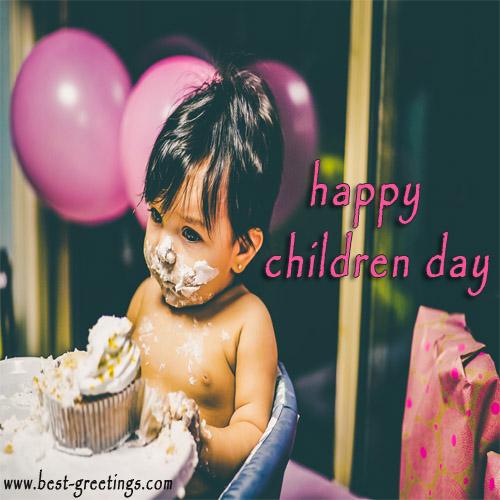 Online Editable Children's Day Wishes Card