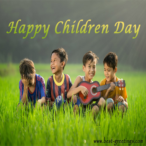Greetings Card for Children's Day