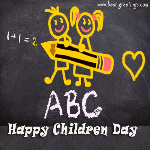Create Children's Day Greeting for Company