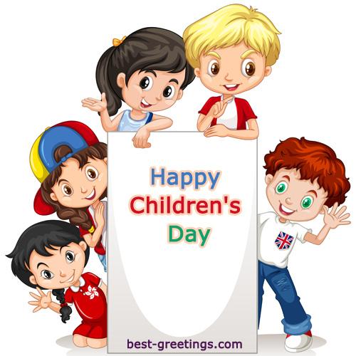 Make Custom Children's Day Wishes Images