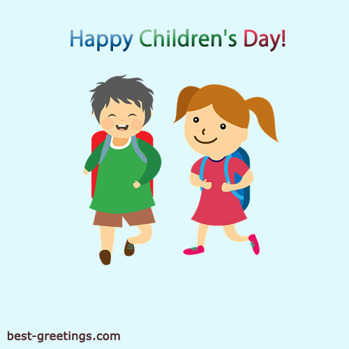 Customise Children's Day Wishes Cards