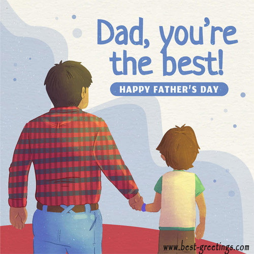 Happy Fathers Day Card With Name Editor