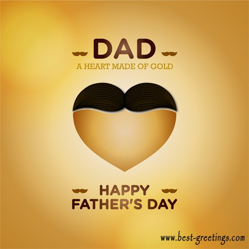 Editable Fathers Day Wishes Cards for Facebook