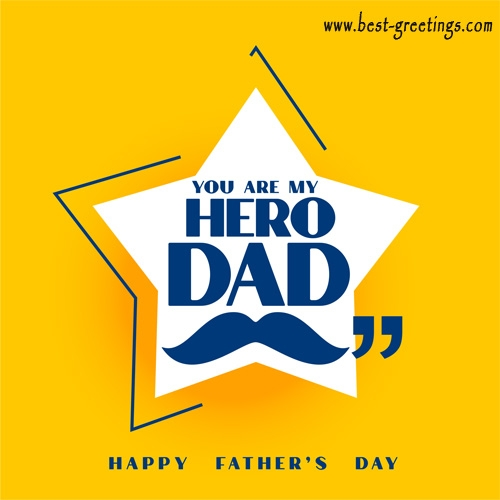 Create a Fathers Day Greeting card with Name