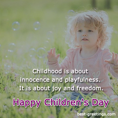 Make your own Childrens Day Greetings card