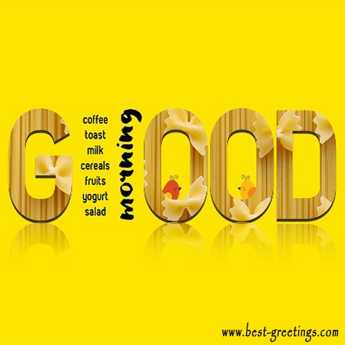 Customized Good morning Wishes Card