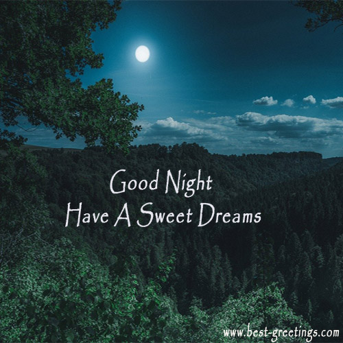 Good Night Greetings Card With Name