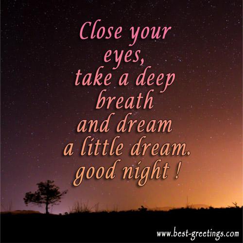 Share Free Good Night Card