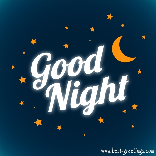 Write your name on the Good Night Card