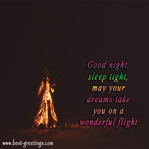 Greeting Card For Good Night For Friends And Family