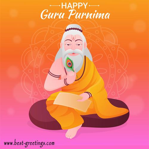Beautiful Guru Purnima Cards For Friends And Family